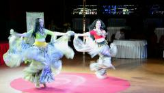 Gypsy dancers during Belly Lady Festival 2015 in Kiev.  Stock Footage