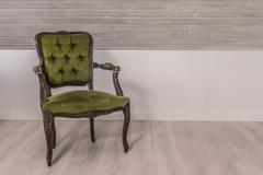 Stock Photo of Green chair in victorian design