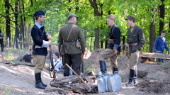 Ukrainian Insurgent Army (UPA), Military History Festival in Kiev, Ukraine. Stock Footage