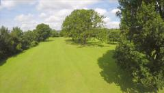 Aerial Shot Through and Above Trees in Park Countryside Drone Footage Stock Footage