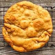 Rustic italian deep fried pizza fritta dough Stock Photos