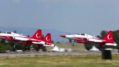 Turkish Star Air Show Team Stock Footage