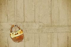 Old wooden door Stock Illustration
