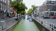 Delft canals, Netherlands (Holland). Stock Footage