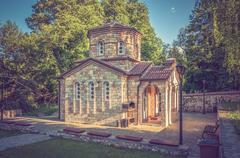 Chapel in Macedonia near Ohrid lake - stock photo