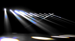 Light decoration at the stage Stock Footage