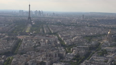Paris cityscape in summer season, sunny day outside, Eiffel tower background Stock Footage