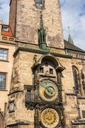 The Astronomical Clock in Prague in the Czech Republic - stock photo