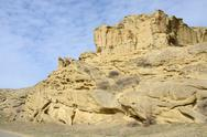 Stock Photo of Rock formations along the highway leading to Uplistsikhe cave town,Georgia