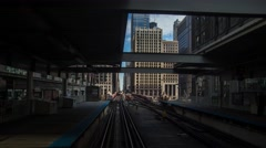 Time laps a  Metra  in Chicago (train inside) Stock Footage