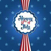 4th of July design Stock Illustration