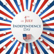 4th of July design - stock illustration