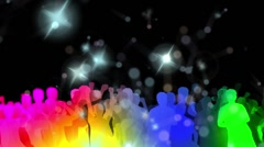 Colorful Dancer with lights and stars Stock Footage