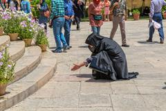 Woman reads the Hafez verses Stock Photos