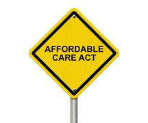 Affordable Care Act Warning Sign Stock Illustration