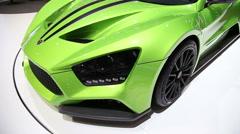 Zenvo car 6 Stock Footage