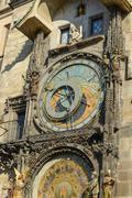 Clock of Astronomy in Prague, Czech Republic Stock Photos