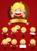 Businessman mascot Stock Illustration