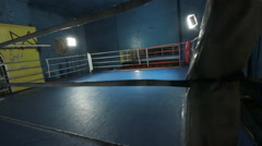 The boxing ring, the lights go out Stock Footage