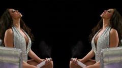 Glamorous Woman Performance Silver Club Chair 47 Custom Stock Footage