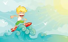Surfer Boy Stock Illustration