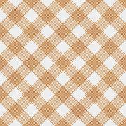 Orange and White Striped Gingham Tile Pattern Repeat Background - stock illustration