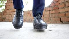 Feet In Irish Dancing Step Shoes Slow Motion Stock Footage