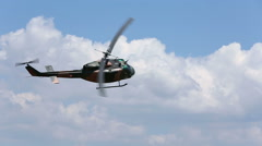 Bell UH-1 H Huey Helicopter Slow Motion Stock Footage