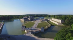 Chateau de Chantilly Aerial Stock Footage