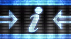 Internet icon on the screen. Looping. Stock Footage