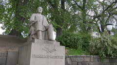 Franklin D Roosevelt monument Oslo Norway Stock Footage