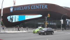 Barclays Center Day time EXT Medium Shot Stock Footage