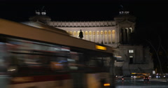 Timelapse of traffic near Altar of Fatherland Stock Footage