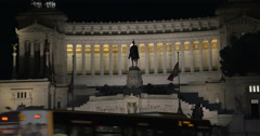 Using pad to shoot  Altar of Fatherland in Rome Stock Footage