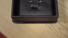 Beautiful diamond engagement ring. 4K UHD. Stock Footage