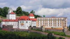 Veste Oberhaus fortress in Passau, Bavaria, Germany Stock Footage