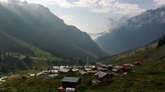 Time lapse of approaching fog in black sea ( Karadeniz ) region valley of Ana Stock Footage