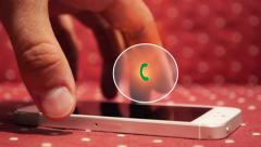 Urgent Call on Smart Phone. Hot Animation Button Icon Stock Footage