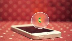 Stock Video Footage of Hot Urgent Call on Smart Phone. Animation Call Icon in Fire
