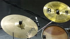 Drums crash cymbal Stock Footage