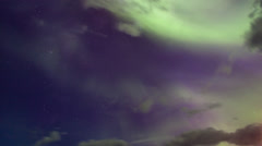Beautiful Aurora Borealis (Northern Lights) - stock footage