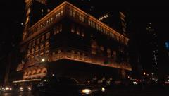 Carnegie Hall_Full Pan Low Angle EXT Wide Shot - stock footage