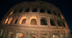 Sightseeing of Rome, Coliseum at night Stock Footage