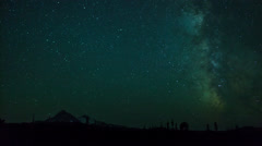 Stars and Milky way timelapse behind a mountain - stock footage