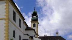 Time-lapse footage of the Wallfahrtskirche Mariahilf church in Passau, Germany Stock Footage
