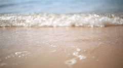 Sea, wave and sand - stock footage