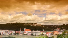 Time-lapse footage of the city of Passau from the south, Germany Stock Footage
