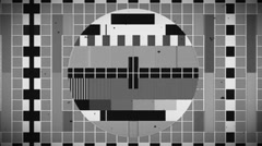 Old test card TV Stock Footage