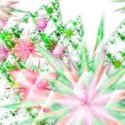 Digitally recreated watercolor flower texture - stock illustration