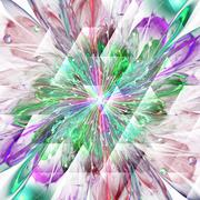 Digitally recreated watercolor flower texture - stock illustration